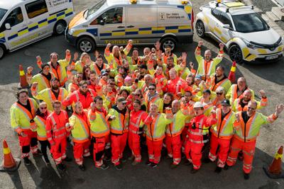 Gruppebilde av Trafikkvaktas dedikerte trafikkdirigenter